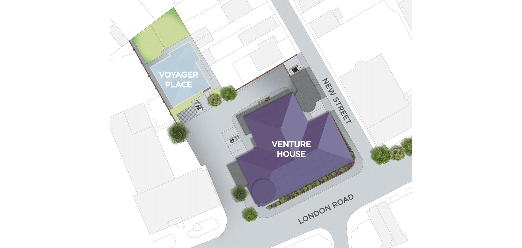 Venture House Siteplan