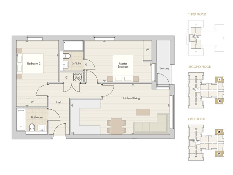 Apartments 14 17 31 34