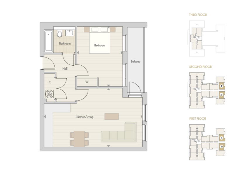 Apartments 15 16 32 33