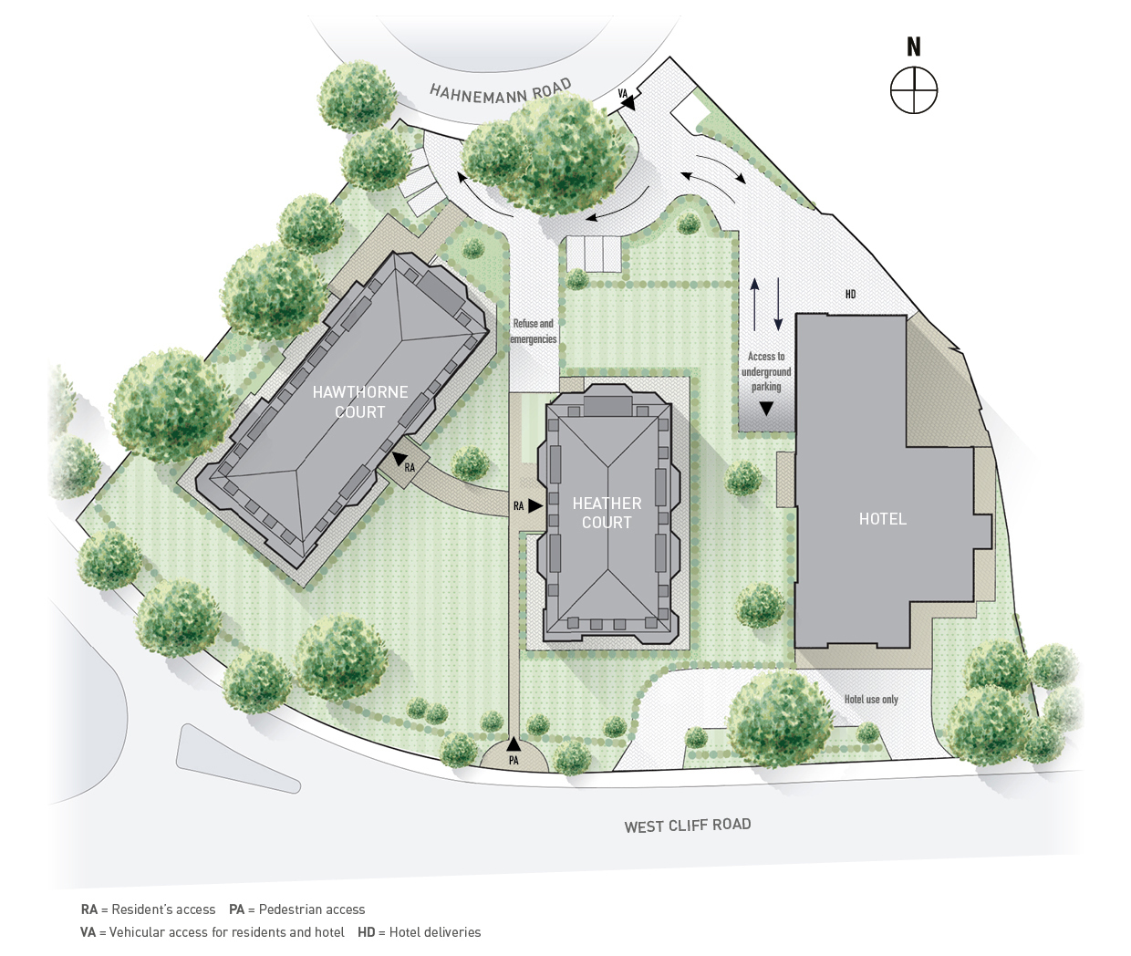 The Wessex Site Plan