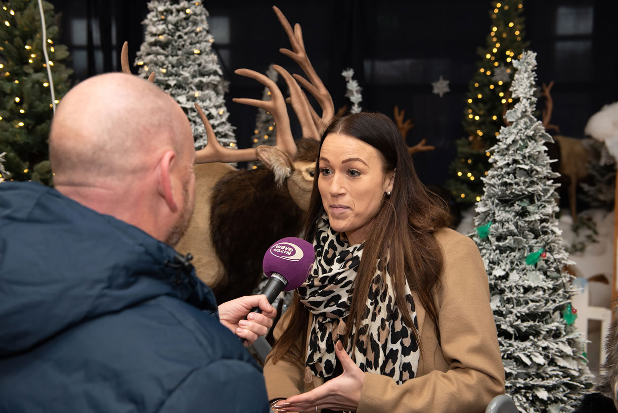 Lady being interviewed at Meridian Waterside