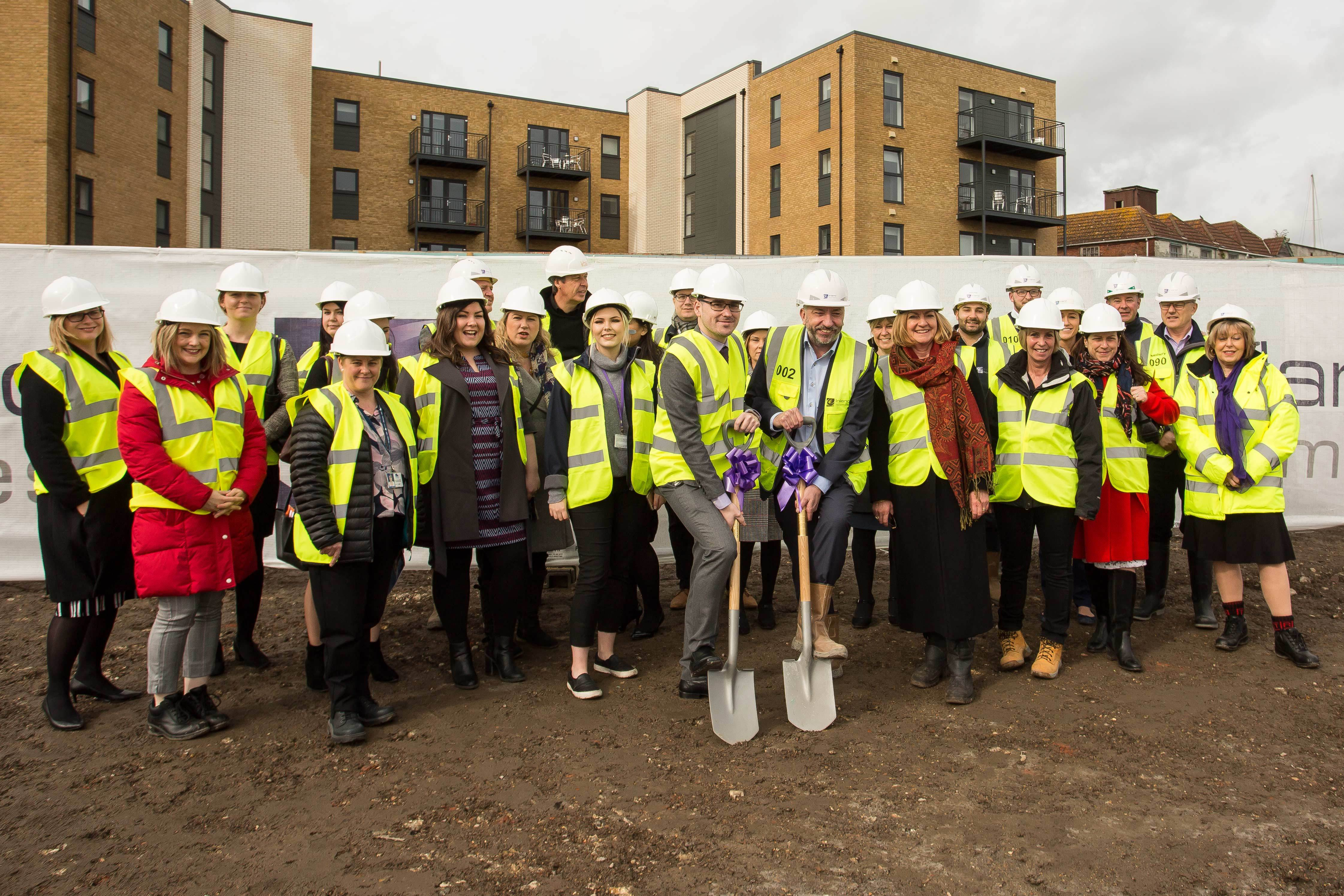 Groundbreaking at Meridian Waterside